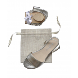 Bagllerina Summerfeet Plain Leather Silver