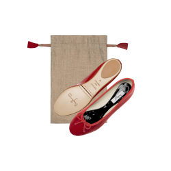 Ballerines Design rouge pp noir