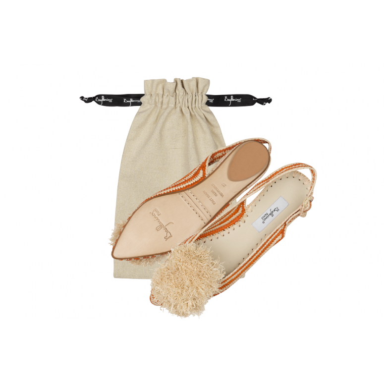 Raffia with strippes sandals