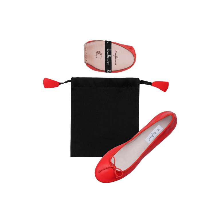 Ballerinas in Smooth leather - Linen pouch (Heel of 1 cm)