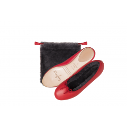Fur Ballerina Smooth Leather
