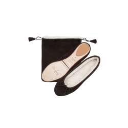 Ballerines Fourrure Peau Velours