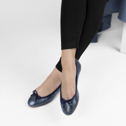 Gorgeous foldable ballerinas in Printed leather