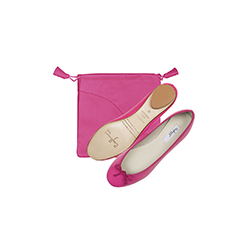 Couleurs Plus foldable ballerinas - leather pouch
