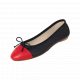Ballerines pliables Daily Cuir lisse et bout cuir lisse marine-rouge
