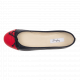 Daily foldable cap-toe Ballerinas in Smooth Leather marine-rouge