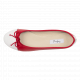 Daily foldable cap-toe Ballerinas in Smooth Leather rouge-blanc