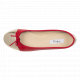 Daily foldable cap-toe Ballerinas in Smooth Leather rouge-or