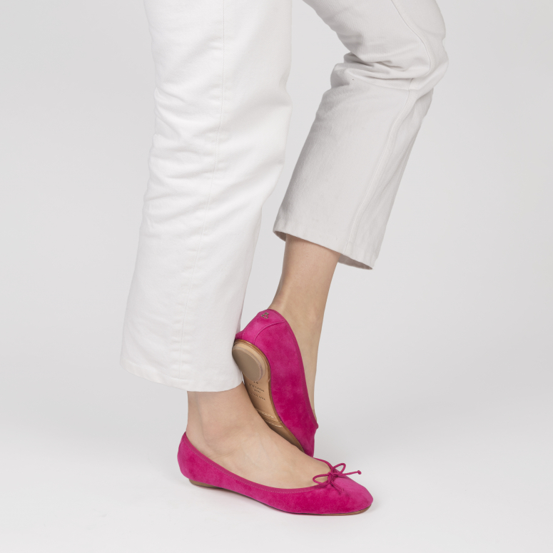 Gorgeous foldable ballerinas in suede leather