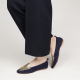 Moka voyage foldable loafers in suede/metallic leather