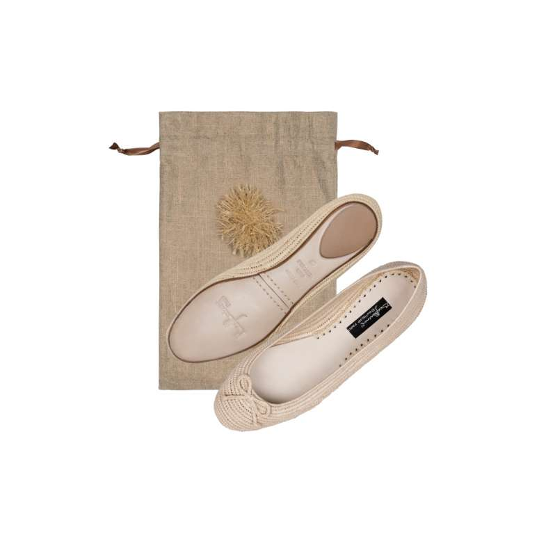 Ballerines Raphia Naturel